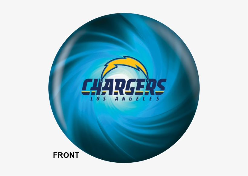 Los Angeles Chargers Bowling Ball Front View - Chargers Bowling Ball, transparent png #3782069