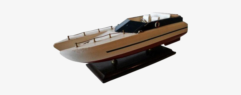 Catamaran Speed Boat Model 1960's @shoprubylux - Boat, transparent png #3787624