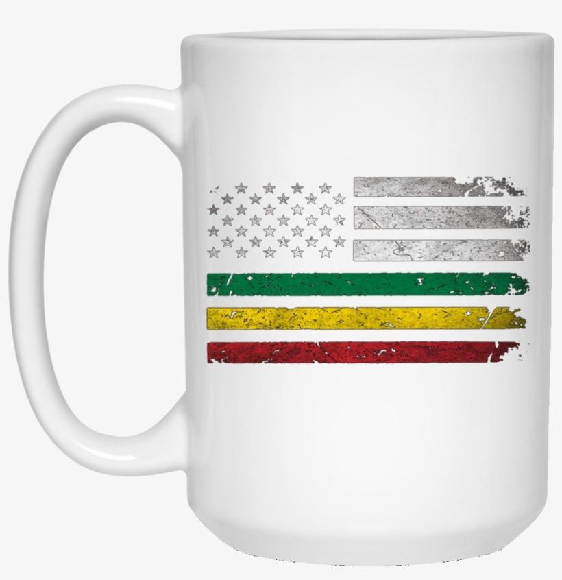 Africa Flag -african American Flag Rasta Reggae 15 - Mug, transparent png #3787700