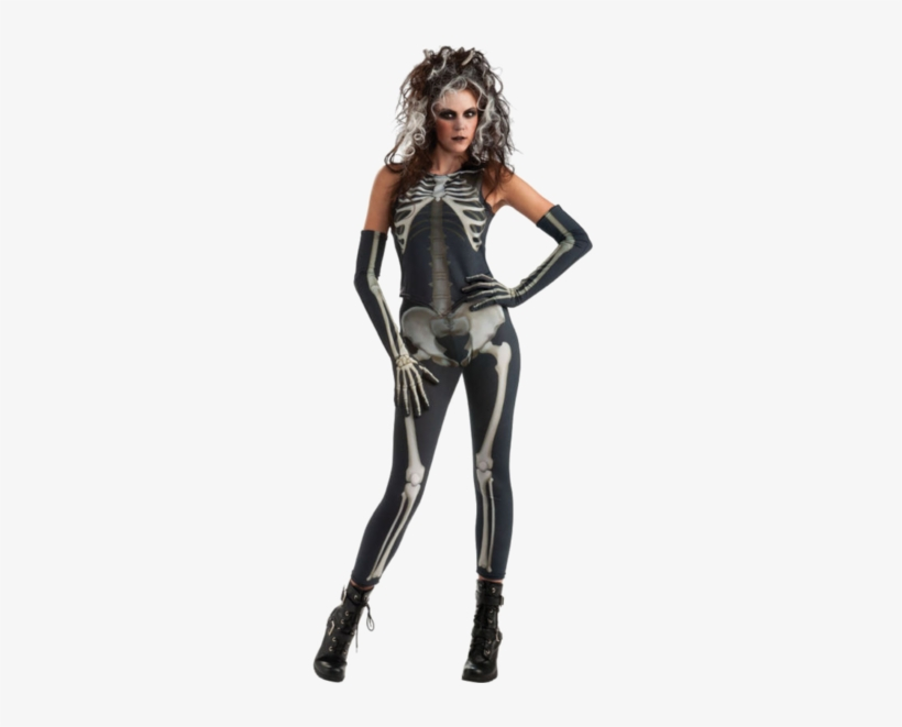Create A Sexy Halloween Look With Our Ladies Skeleton - Halloween Skeleton Costume Women, transparent png #3787813