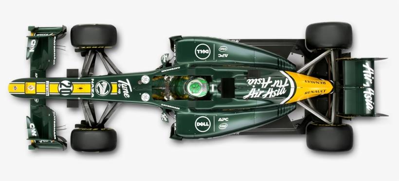 Team Lotus F1 Over Head - Formula 1 Racing Car Top View Png, transparent png #3790155