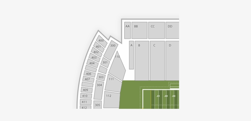 Southern Miss Golden Eagles Football Seating Chart - M.m. Roberts Stadium, transparent png #3790589