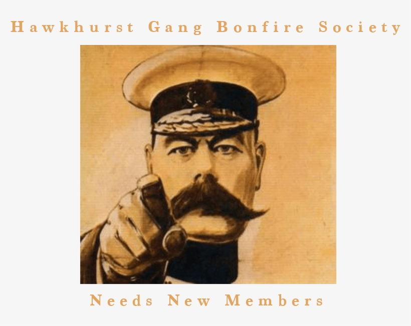 Hawkhurst Gang Bonfire Society New Members - We Want You Ww1 Poster, transparent png #3791116