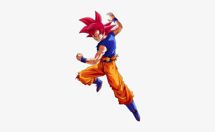 Flaring Battle Impulse Super Saiyan God Goku - Goku Super Saiyan God Dokkan Battle, transparent png #3793364