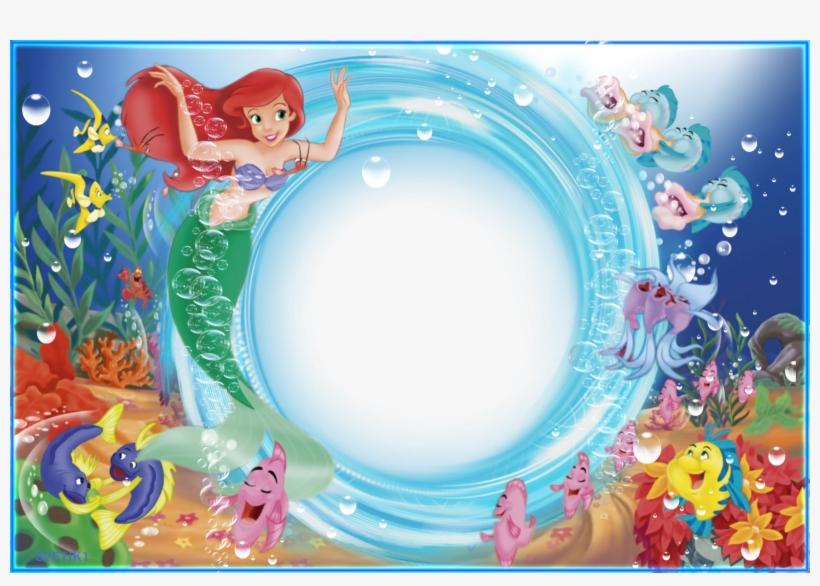 La Sirenita De Disney - Marcos Para Fotos De Sirenita, transparent png #3796886