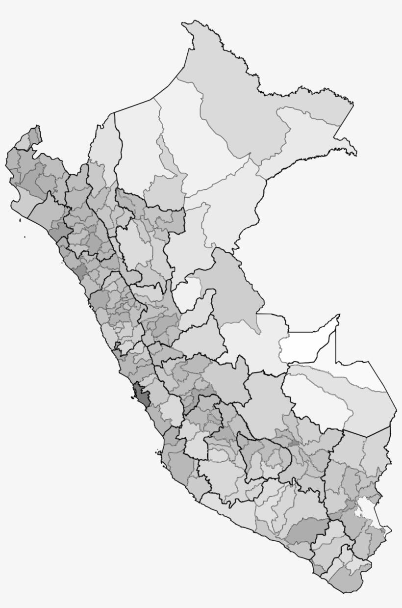 El Baúl De La Geografía - Mapa Provincial Del Peru, transparent png #3797898