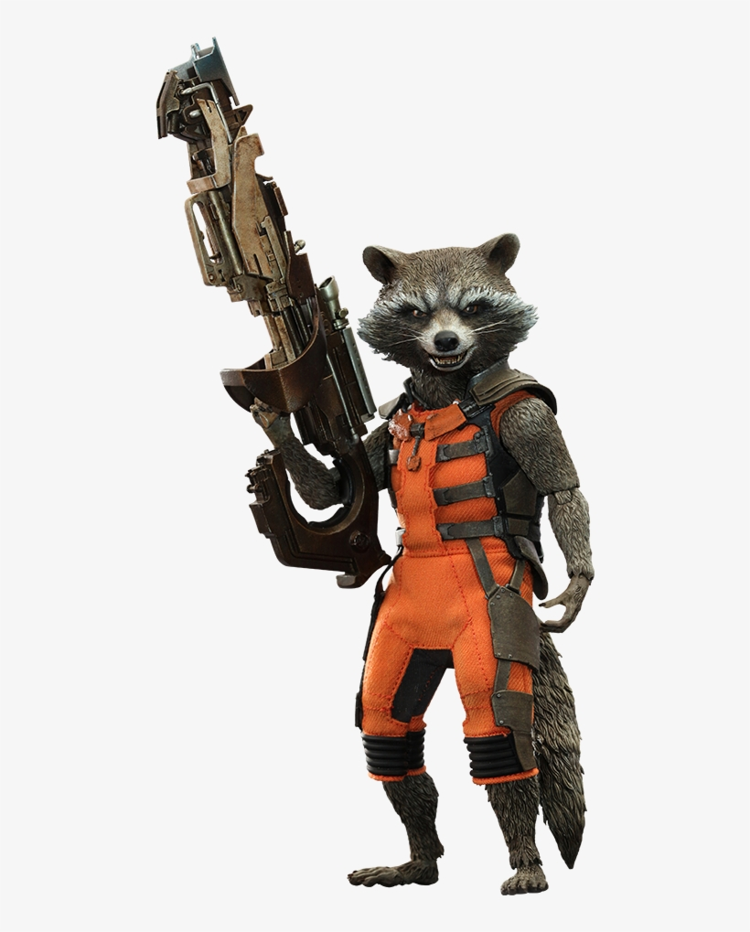 Hot Toys Rocket Sixth Scale Figure - Hot Toys Guardians Of The Galaxy Rocket Sixth Scale, transparent png #381143