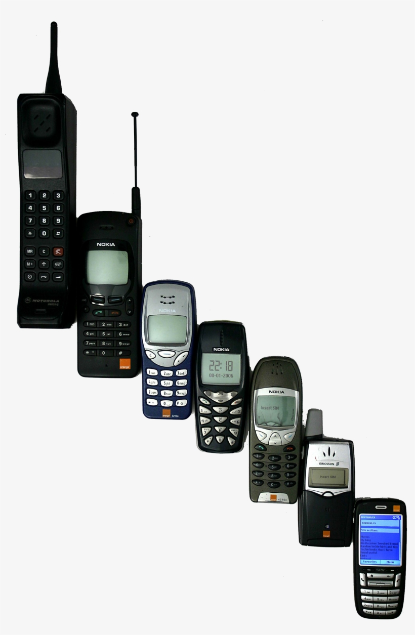 Mobile Phone History Ringer Inventions, Telephone, - First Mobile Phone, transparent png #382773