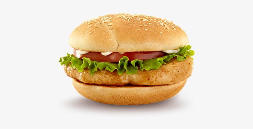 Veggie Burger Clipart Chicken Sandwich - Chicken Burger .png, transparent png #384242