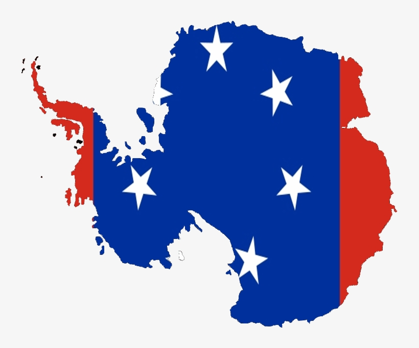 Flag-map Of Antarctica - Antarctica Map With Flags, transparent png #385160