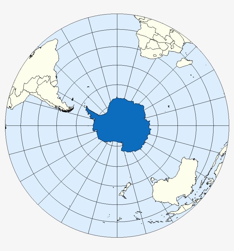 Southern Hemi Antarctica - Antarctica's Location On Earth, transparent png #385474