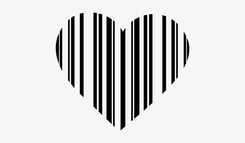 Barcode generic. Clipart heart black and