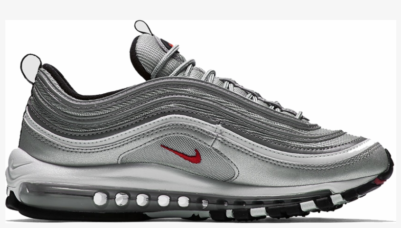 4 Apr Nike Air Max 97 Silver Bullet Free Transparent PNG