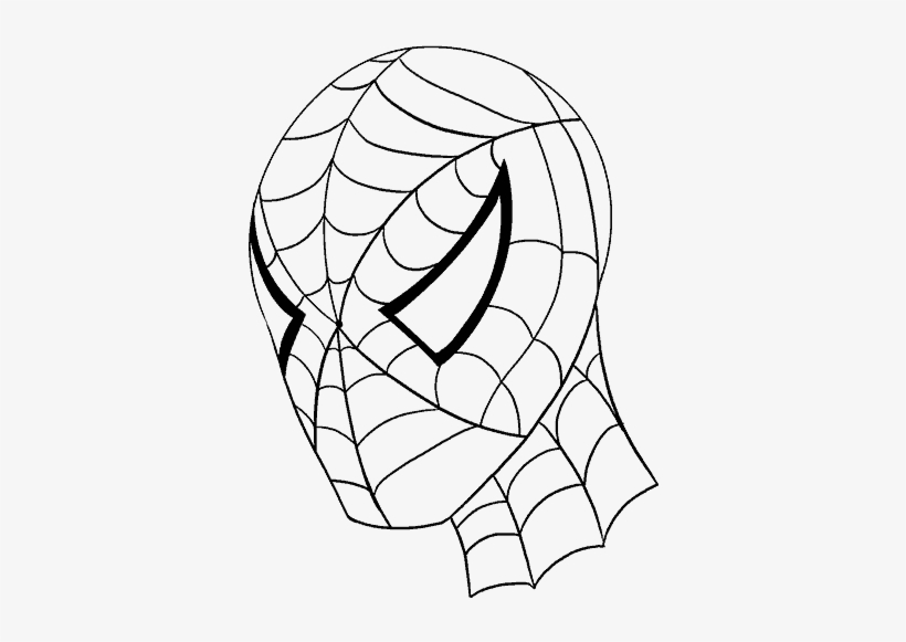 How To Draw Spiderman S Face Line Drawing Spiderman Free