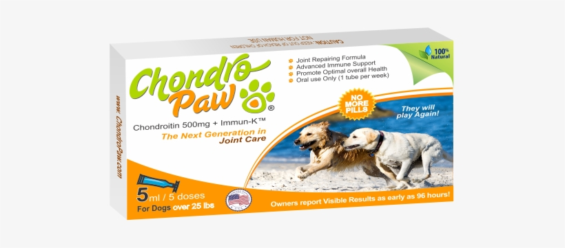 Chondropaw® For Dogs Over 25lbs - Synoquin Efa Joint Supplement Large Breed Capsules, transparent png #3808650