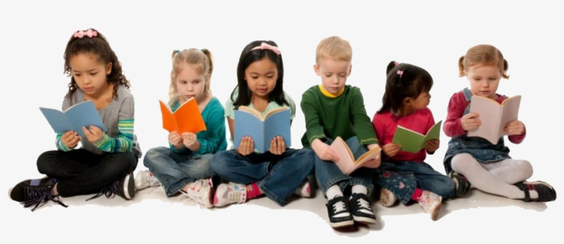 Children Reading Books Together - Kids Reading No Background, transparent png #3810794