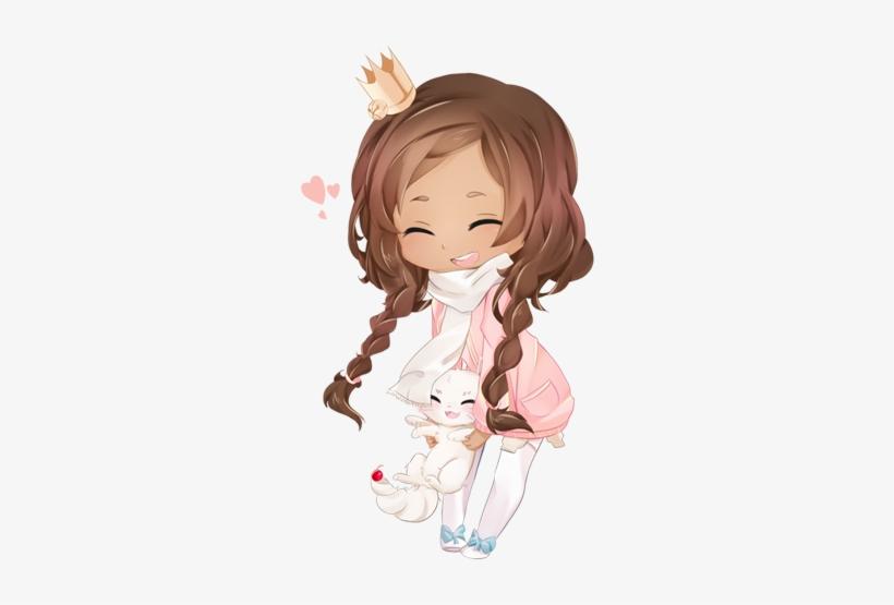 Yogurette By Kagephumi On Deviantart Kawaii Art, Kawaii - Chibi Anime Brown Girl, transparent png #3812360