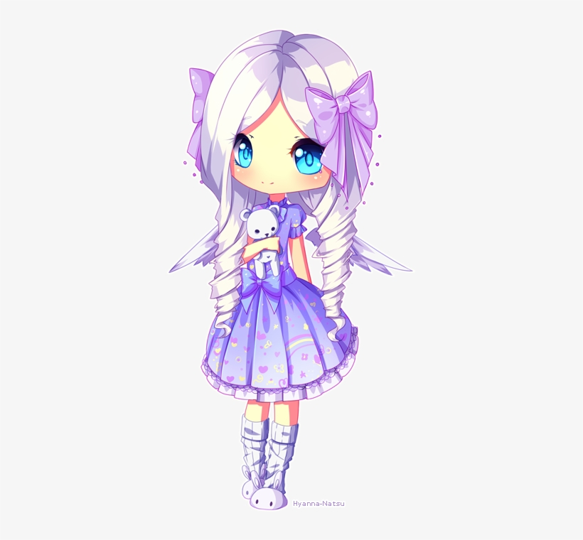 Jigsu By Hyanna-natsu On Deviantart - Chibi Anime Girl Purple Hair, transparent png #3812485