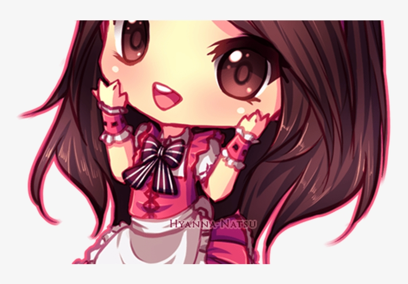 Neko Girl With Brown Hair Chibi Wwwimgkidcom The - Anime Girl Kawaii Chibi Dress, transparent png #3813046