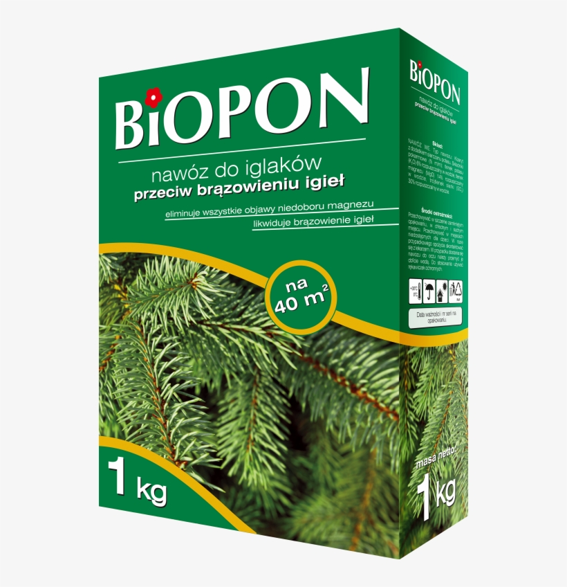 Biopon Conifer Fertilizer With Needle Browning Control - Biopon Для Хвойных Растений, transparent png #3820735