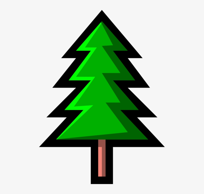 Vector Illustration Of Coniferous Evergreen Fir Pine - Christmas Tree, transparent png #3821237