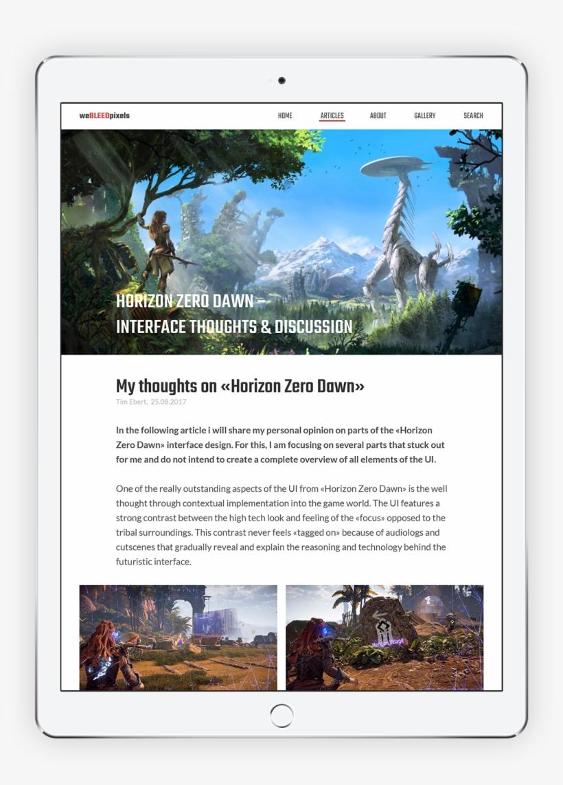 Let's Design Great Stuff Together - Horizon: Zero Dawn, Playstation 4-spiel Playstation, transparent png #3822685