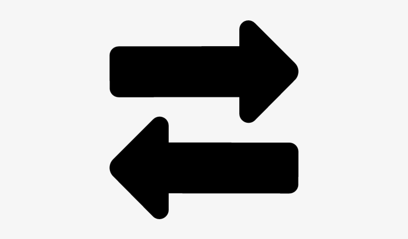 Two-way Arrows Vector - Two Way Arrow Icon, transparent png #3823899