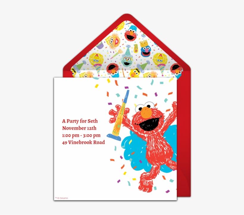 Elmo Scribble Online Invitation