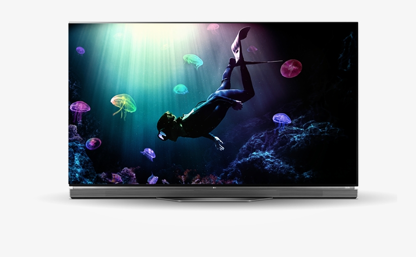 "Tv - Lg 55"" Smart Oled 4k Hdr Ultra Hd Flat Tv (2016 Model), transparent png #3827851"