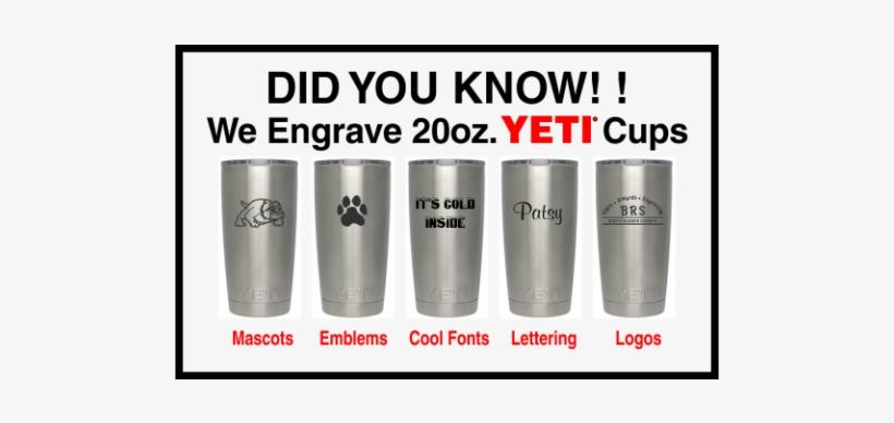 Yeti Cup Engraving - Engraving - Free Transparent PNG