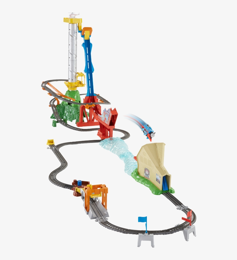 The Top 12 Christmas Toys Revealed - Thomas And Friends Sky High Bridge Jump, transparent png #3830866