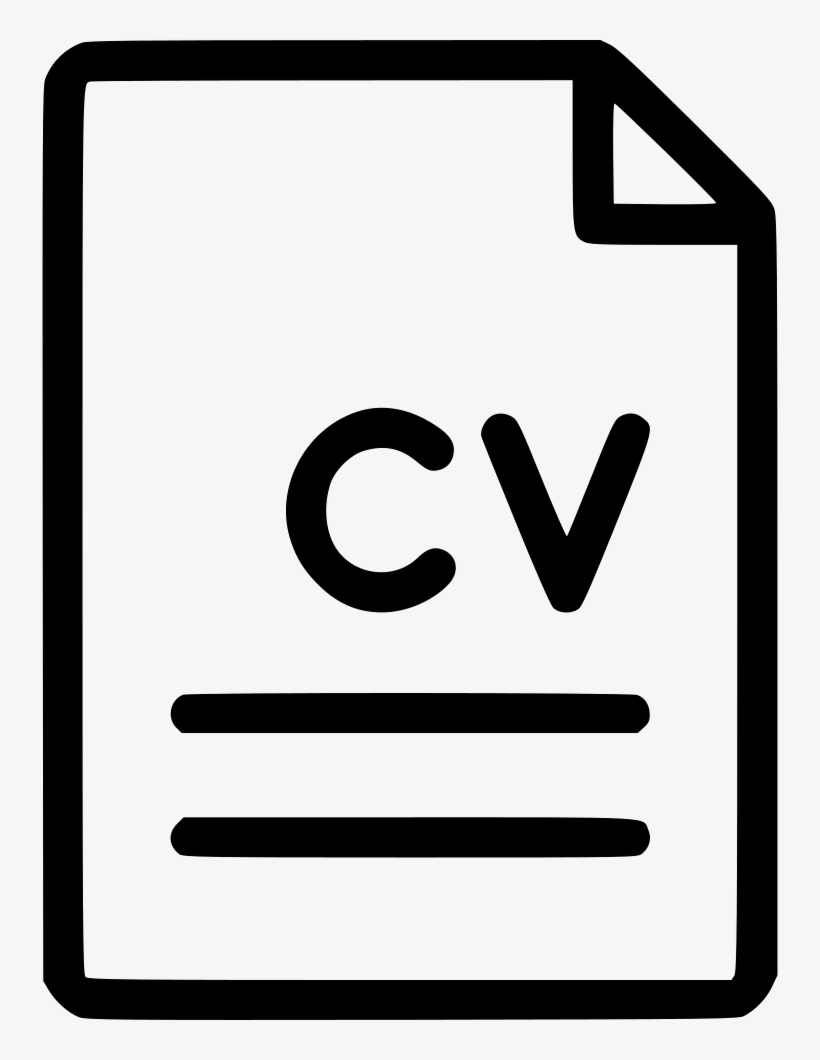 File Document Cv Curriculum Vitae Svg Png Icon Free