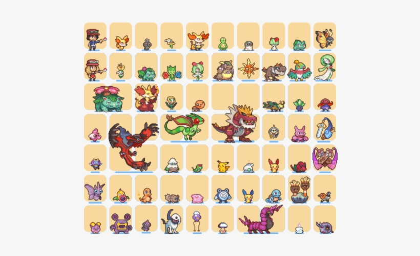 Pokemon X Nintendo Venusaur Pixel Art Charmander Y Pixel