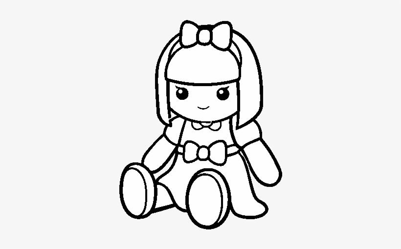 A Pretty Rag Doll Coloring Page Boneca De Pano Desenho Free