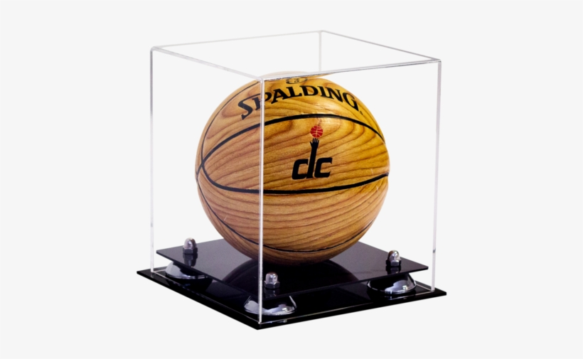 Miniature Basketball <br> Clear Display Case < - Better Display Cases: Mini Basketball Display Case, transparent png #3839496