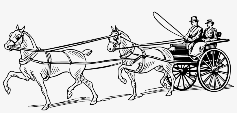 Horse Pulling Wagon Coloring Pages