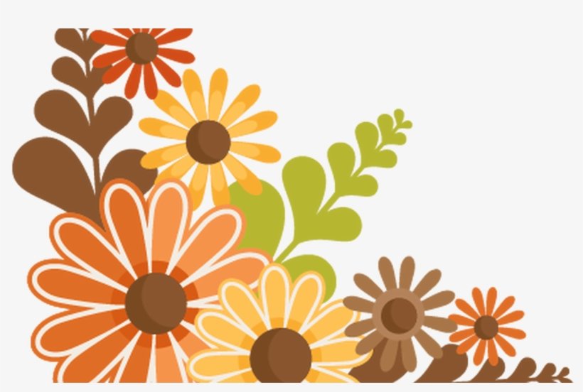 Fall Flowers Svg Cutting Files For Scrapbooking Fall - Cute Fall Clipart, transparent png #3843619