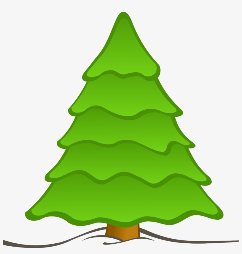 Tree Cartoon Png Cartoon Christmas Tree, Cartoon Christmas - Plain Christmas Tree Clipart, transparent png #3844113