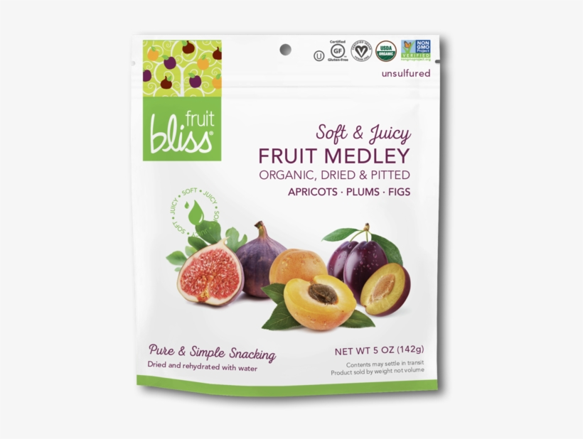 Fruit Bliss Fruit Medley Organic Snacks - Fruit Bliss - Organic Fruit Medley - 5 Oz., transparent png #3846799