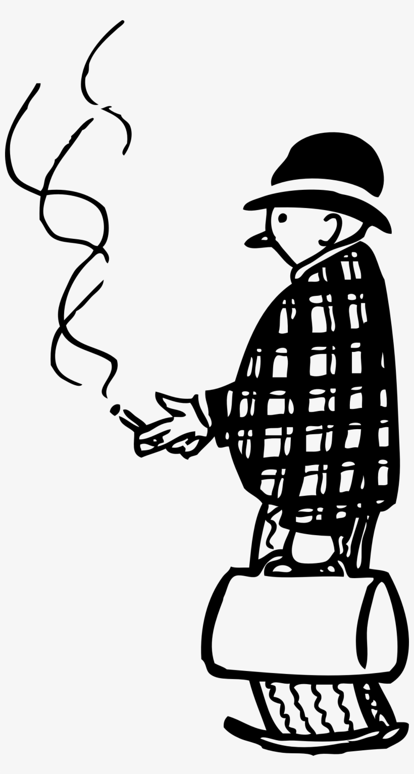 Funny Little Cigar Smoker Png Images - Man Smoking Cigar Png, transparent png #3847228