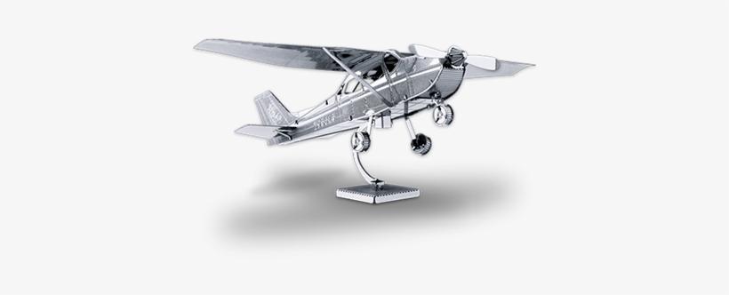 Metal Earth Online Store - Metal Earth Cessna 172 Skyhawk 3d Puzzle Micro Model, transparent png #3848704