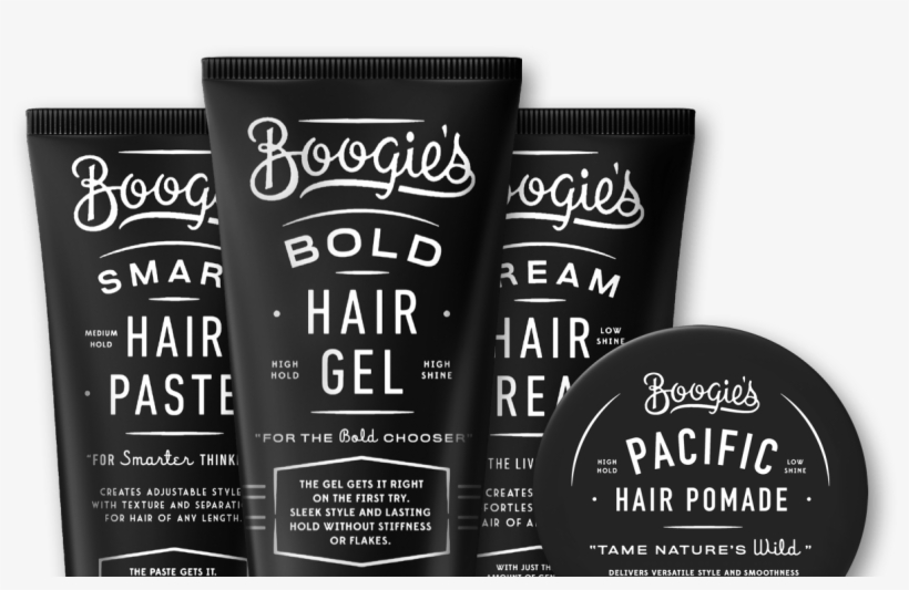Hair Style - Hair Gel Boogie's Bold Hair Gel 5.5 Oz Alcohol Free, transparent png #3851628