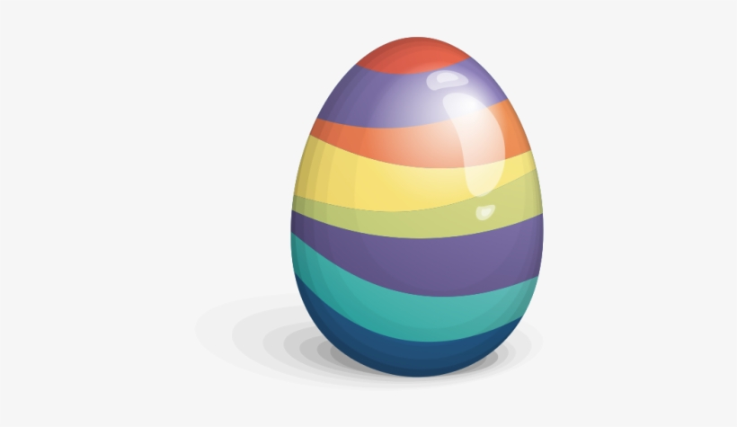 Colorful Easter Eggs Photos Png Images - Rainbow Easter Egg Transparent, transparent png #3852252