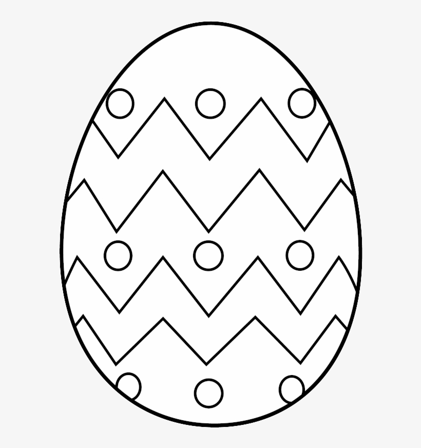Easter Egg Clip Art Free Coloring Pages - Easter Eggs To Colour, transparent png #3852982