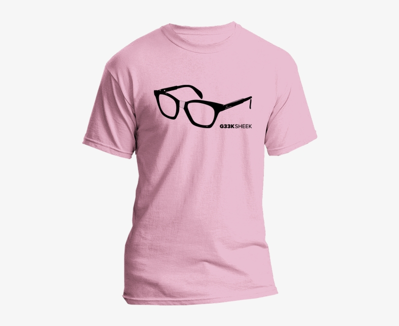 Geek Glasses Black Art, Pink Shirt - Hashtag #outnumbered Tshirt For Dads Of Twins, transparent png #3854595