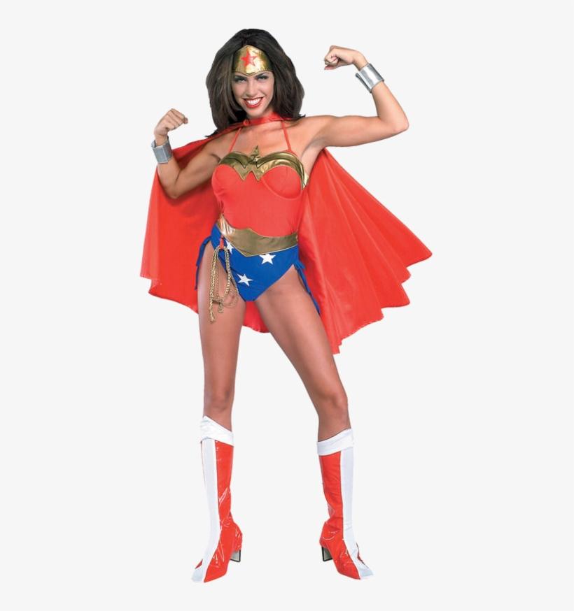 Wonder Woman Super Hero Costume - Wonder Woman Womens Costume, transparent png #3855662
