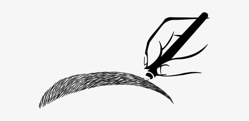 Microblading Microblading Eyebrows Ia - Microblading Eyebrows Cartoon, transparent png #3856192
