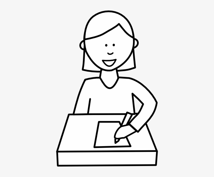Writing black and white. Writer clipart clip art