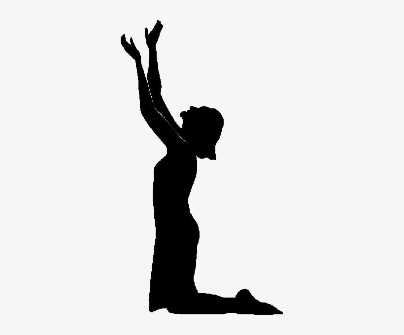 Silhouette Of Woman Praying - Free Transparent PNG ...