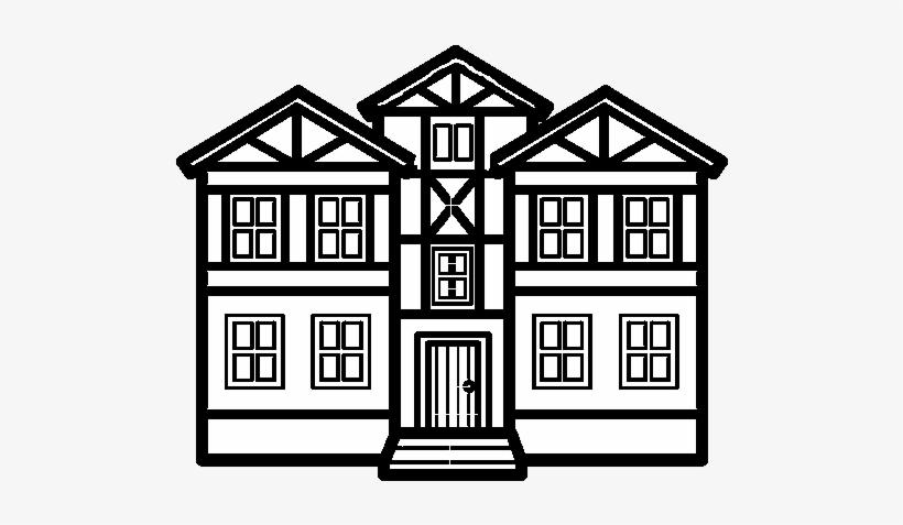 Dibujo De Casas Para Colorear - Imagenes De Casas Para Dibujar, transparent png #3860276